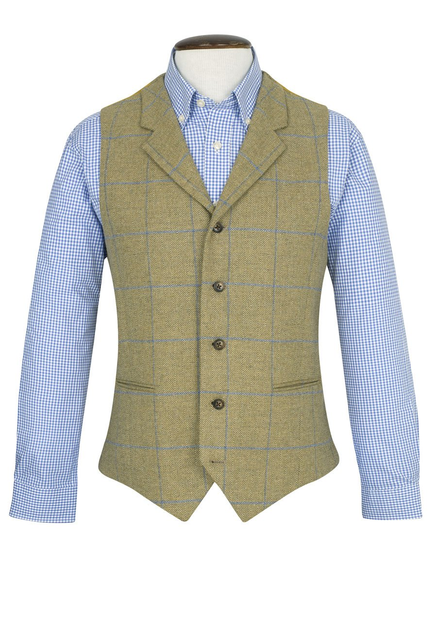 Men's Vintage Vests, Sweater Vests Scimitar Tailored Fit Waistcoat £220.00 AT vintagedancer.com