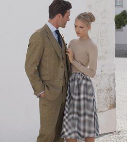 Three-Piece Dollis Summer Tweed Check Suit