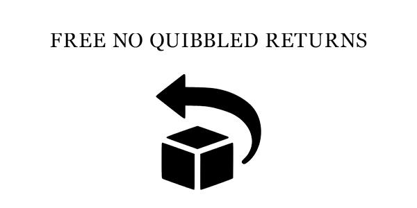 Free No Quibble Returns