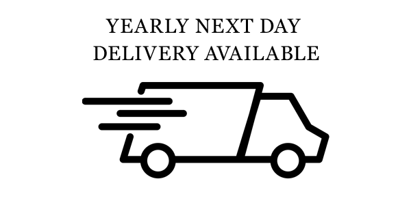 Yearly Next Day Delivery Available